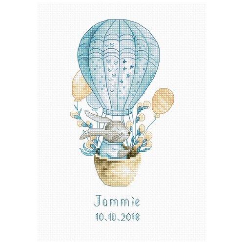 Фото - Luca-S Набор для вышивания Кролик на воздушном шаре 9 x 18 см (B1150) набор для вышивания улитка luca s 9 5 x 5 см b005
