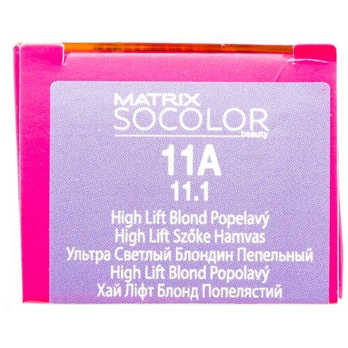 Купить Matrix Socolor Beauty стойкая крем-краска для волос, 11A ультра светлый блондин пепельный, 90 мл