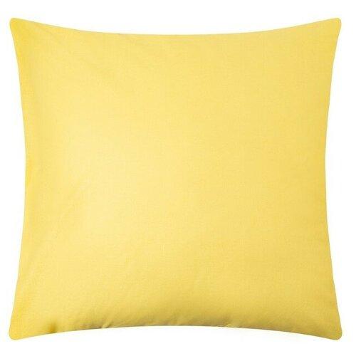 Наволочка Этель 70*70 см,цв.желтый,поплин,125 гр/м2,100% хлопок 4913103