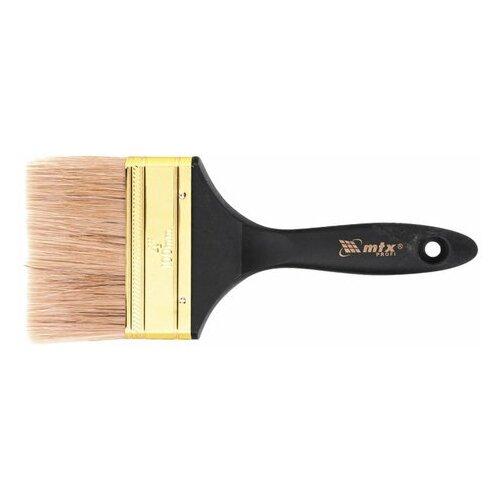 Кисть плоская 100 мм, натуральная щетина, деревянная ручка, масляные краски, лаки,