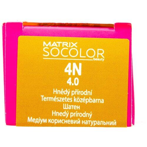 Купить Matrix Socolor Beauty стойкая крем-краска для волос, 4N шатен, 90 мл
