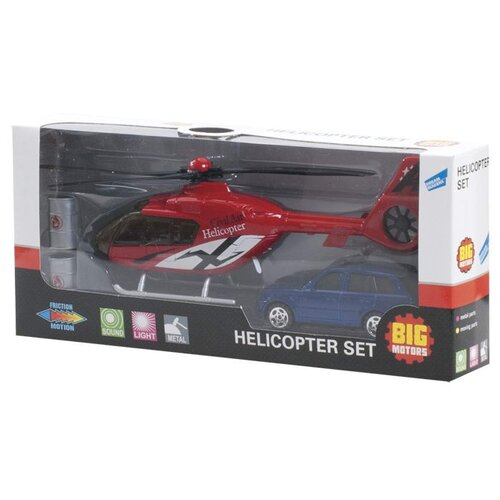 Купить Набор игровой «Вертолет и машинка» (JL81009-2), Big Motors, Машинки и техника