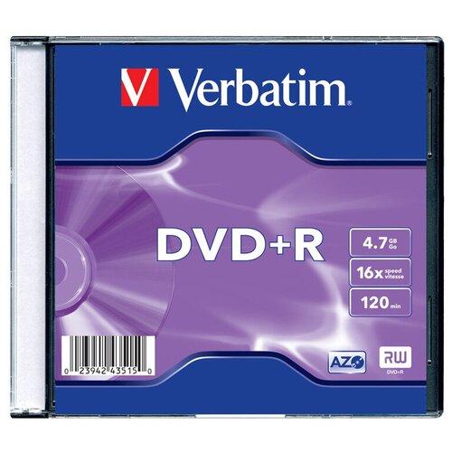 Диск Verbatim DVD+R 4.7 Гб 16х Slim