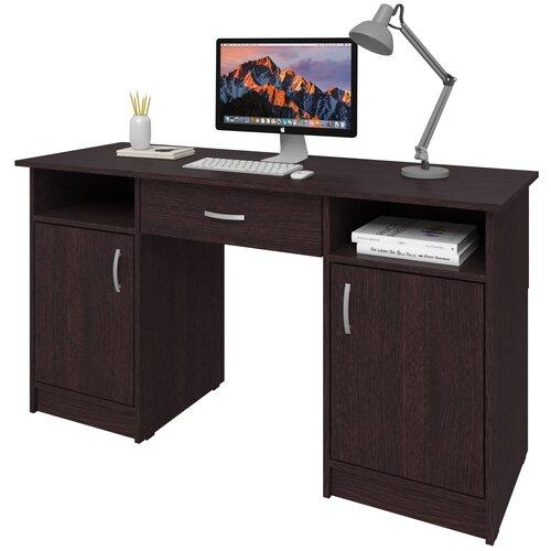 Фото - Письменный стол СитиМебель Хит-10, ШхГ: 140х50 см, цвет: венге цаво письменный стол ситимебель компактный шхг 140х50 см цвет венге цаво