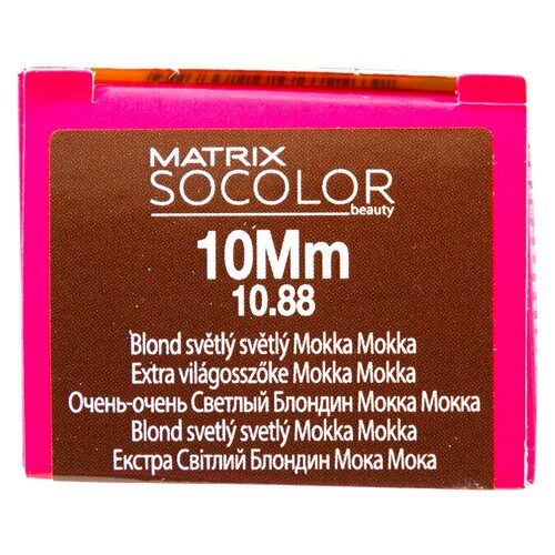 Купить Matrix Socolor Beauty стойкая крем-краска для волос, 10Mm очень-очень светлый блондин мокка мокка, 90 мл