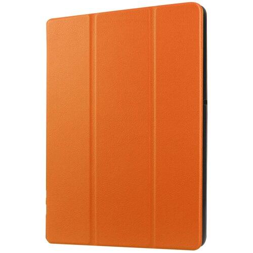 Чехол-обложка MyPads для Lenovo Miix 3 8.0 / Miix3-830 7.85 тонкий умный кожаный на пластиковой основе с трансформацией в подставку оранжевый