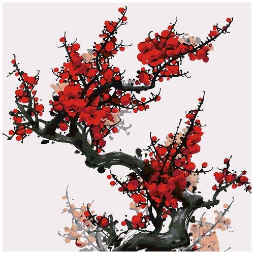Купить Картина по номерам Китайская живопись Мэйхуа, 80 х 80 см, Красиво Красим, Картины по номерам и контурам
