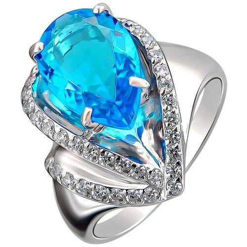 Фото - Эстет Кольцо с кристаллом swarovski и фианитами из серебра С22К250130, размер 18 эстет кольцо с кристаллом swarovski и фианитами из серебра с22к250029 размер 17 5