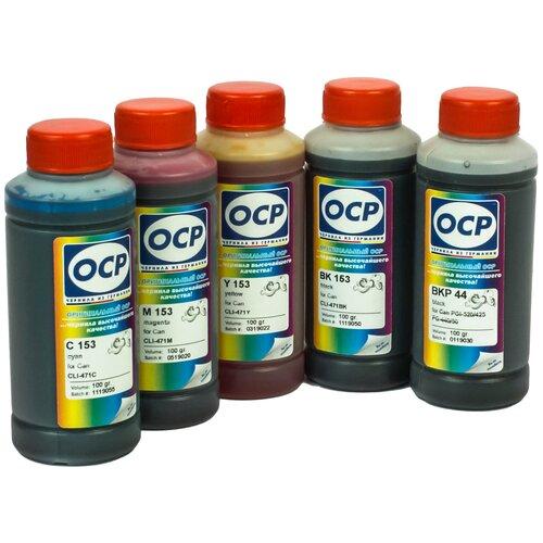 Фото - Чернила OCP (краска) для принтеров Canon PIXMA: MG5740, MG6840, TS5040, TS6040 100x5 чернила краска для заправки принтера canon pixma g4410 набор черный 250