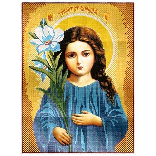 Купить Канва для вышивания с рисунком NOVA SLOBODA Богородица Трилетствующая БИС-1215, многоцветный 30 х 42 см