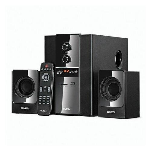 Колонки компьютерные SVEN MS-1820 2.1 40 Вт FM-тюнер USB SD MP3-плеер дерево черные SV-01301820BK 1 шт.