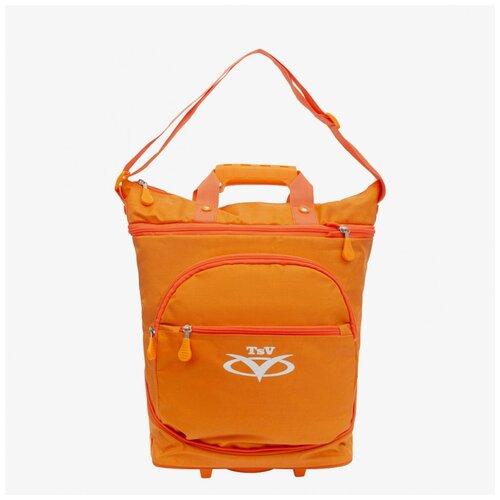 Сумка-трансформер дорожная хозяйственная на 2 колёсах TsV 526.22 оранжевая