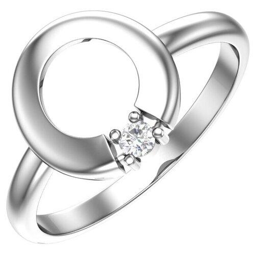POKROVSKY Серебряное кольцо с бесцветным фианитом 1101068-00775, размер 16.5