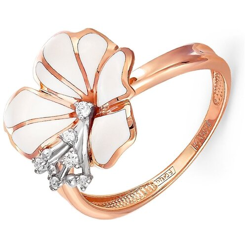 KABAROVSKY Кольцо с 6 бриллиантами из красного золота 11-0391-1010, размер 16 лукас кольцо с 6 бриллиантами из красного золота r01 d rr01008adi r17 размер 16 5