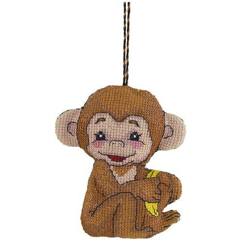 Купить PANNA Набор для вышивания Игрушка Обезьянка 11.5 х 9.5 см IG-1728, Наборы для вышивания