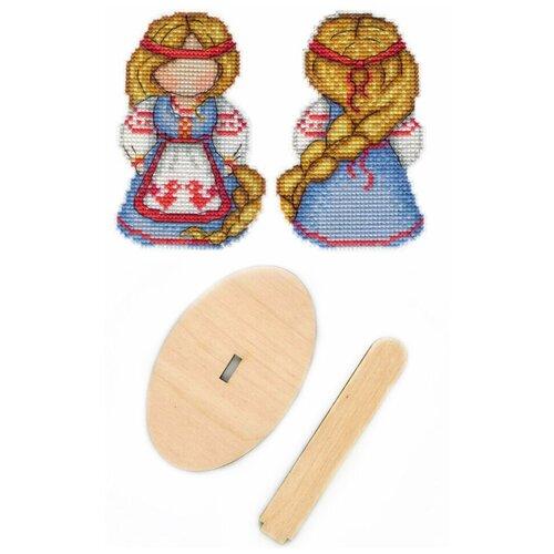 Купить Набор для вышивания крестом, комплект: Р-151 Оберег. Счастливица , РА-008 подставка деревянная малая , МП Студия, М.П.Студия, Наборы для вышивания