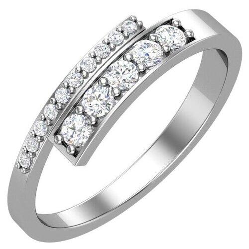 POKROVSKY Серебряное кольцо с бесцветными фианитами 1100830-00775, размер 17