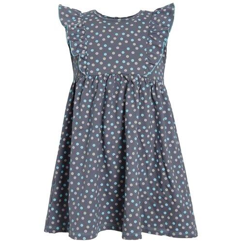 Платье Ивашка Кружок-7 размер 116, темно-серый