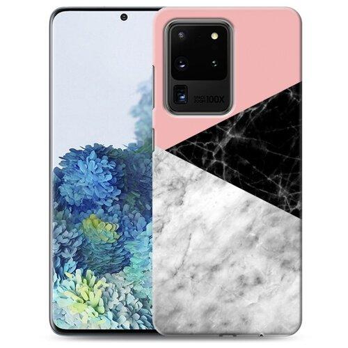 Дизайнерский пластиковый чехол для Samsung Galaxy S20 Ultra Мраморные тренды