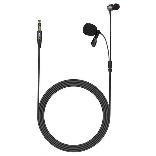 Петличный микрофон с наушником Jmary MC-R5 3,5 mini jack,Черный