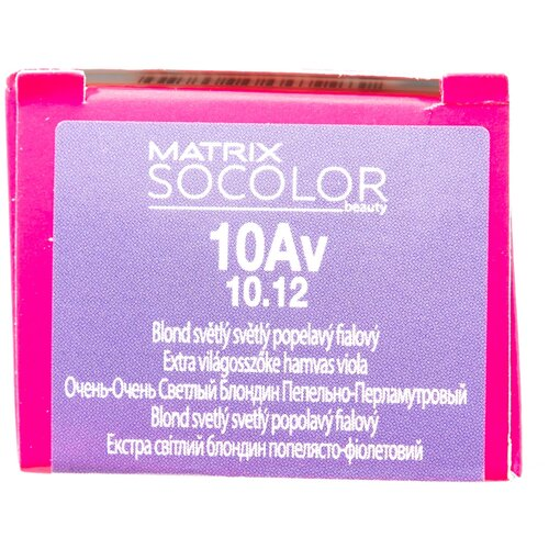 Купить Matrix Socolor Beauty стойкая крем-краска для волос, 10Av очень-очень светлый блондин пепельно-перламутровый, 90 мл