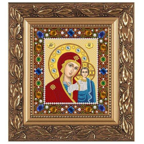 NOVA SLOBODA Набор для вышивания бисером иконы Богородица Казанская 13 х 15 см (Д6025)