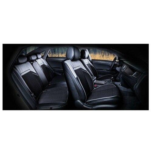 Комплект накидок на автомобильные сиденья CarFashion ARSENAL PLUS серый/черный
