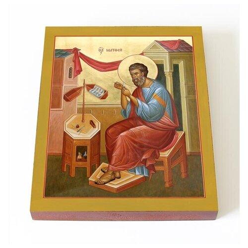Апостол Матфей, евангелист, печать на доске 13*16,5 см