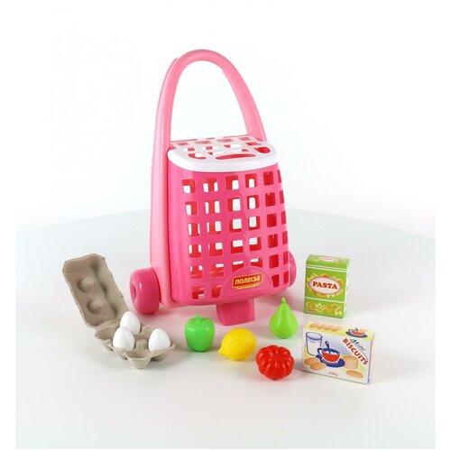 Полесье Забавная тележка + набор продуктов (10 элементов)