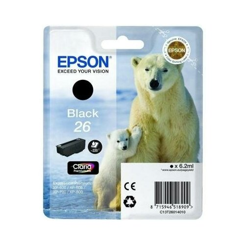 Epson Картридж Epson C13T26014012 для Epson Expression Premium XP-600 Expression Premium XP-700 Expression Premium XP-800 230 Черный