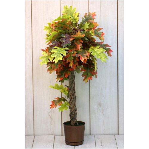 Искусственные цветы Осенний дуб/Искусственные цветы для декора/ искусственные цветы для декора в горшках/ искусственные цветы для декора в кашпо/ Искусственные растения/ искусственные цветы в кашпо