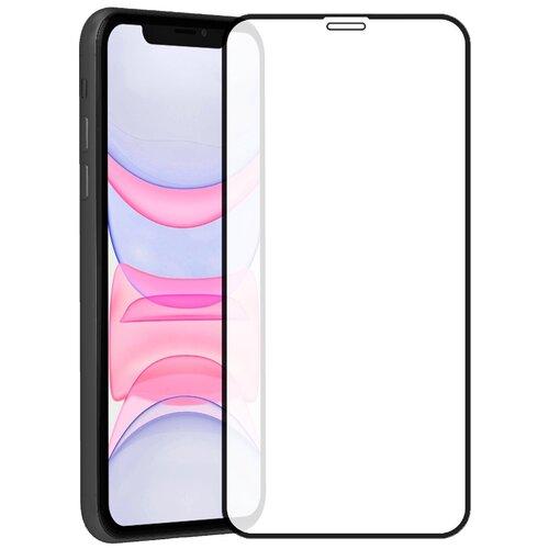 Защитное стекло на iPhone 11 / iPhone XR, 5D стекло на весь экран для Айфон 10Р / Айфон 11 / Айфон ХР, полный клей, черная рамка