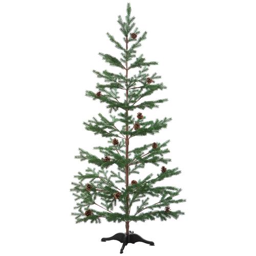 Искусственная Ель CRYSTAL TREES борго заснеженная с шишками 150 см.