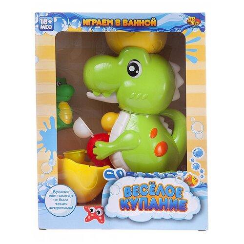 Купить Игрушка для ванной ABtoys Веселое купание. Динозаврик-фонтан (РТ-01508) зеленый/желтый, Игрушки для ванной