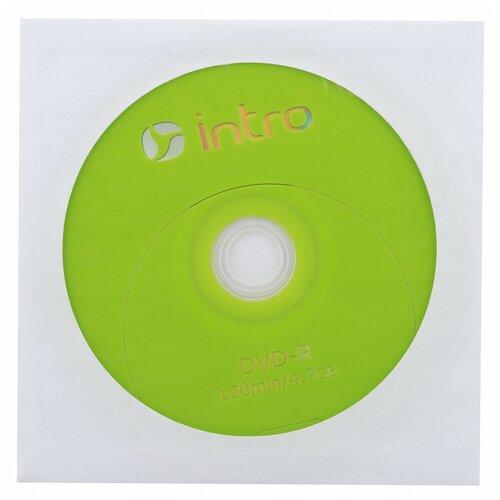 Intro Диск DVD-R Intro 4.7Gb 16x конверт, 1шт (UL130273A1C)