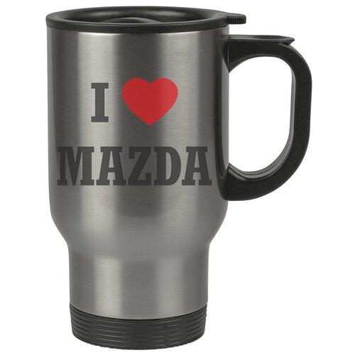 Автомобильная термокружка I love Mazda