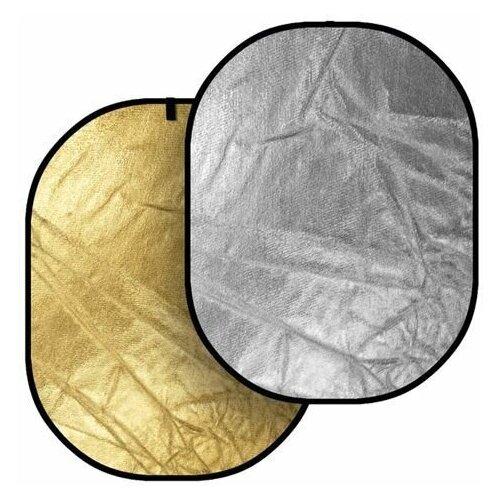 Фото - Светоотражатель Godox овальный, двухсторонний (золото/серебро), 80х120 см светоотражатель godox овальный 5 в 1 100x150 см