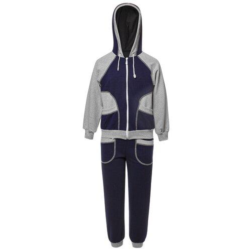 Спортивный костюм M&D размер 104, серый/синий