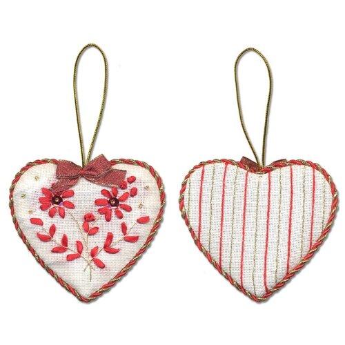 Купить Набор для вышивания PANNA Новогодняя игрушка, Сердечко (IG-1274), Наборы для вышивания