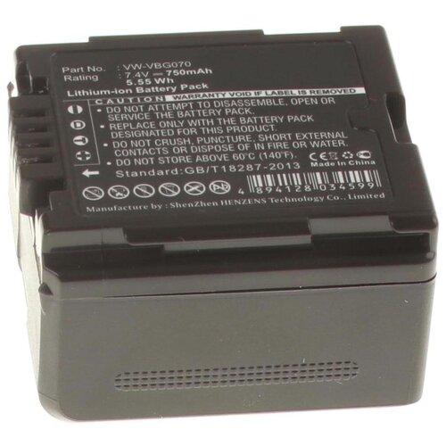 Фото - Аккумуляторная батарея iBatt 750mAh для Panasonic VW-VBG390, VW-VBG6-K, VW-VBG130-K аккумулятор ibatt ib b1 f457 3400mah для panasonic vw vbt190 vw vbt380 vw vby100 vw vbt380e k