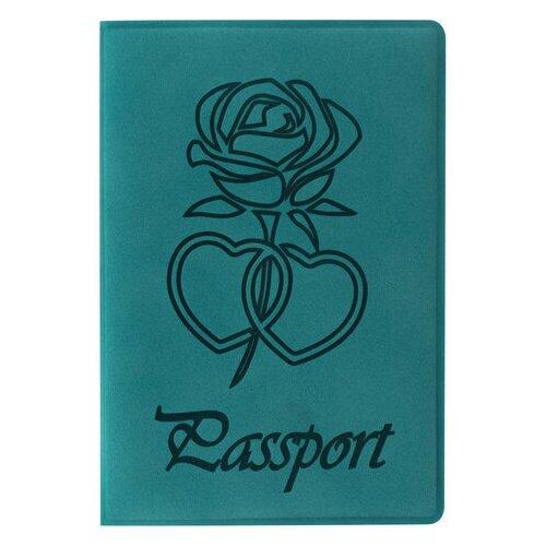 Обложка для паспорта Staff, бархатный полиуретан, тиснение