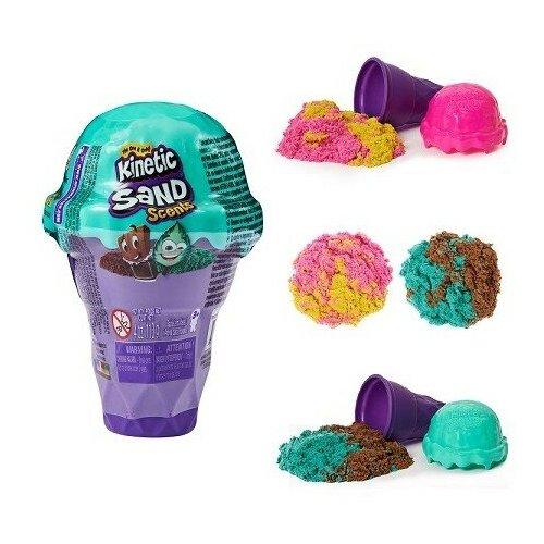 Kinetic Sand Набор для лепки Кинетический мини набор Мороженое