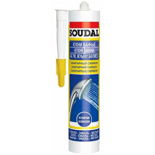 Санитарный силиконовый герметик Soudal Кухни Ванные, белый, 280 мл