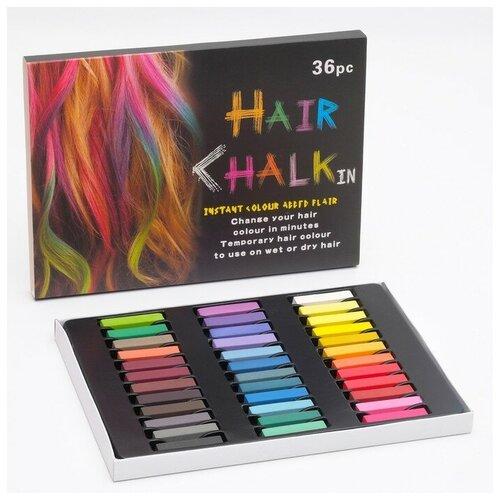 Купить Мелки для волос 36 цветов, Сима-ленд, Пастель и мелки