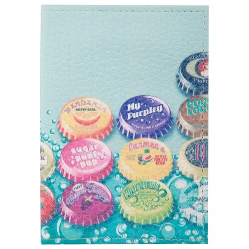 Обложка для паспорта OfficeSpace 254195, голубой