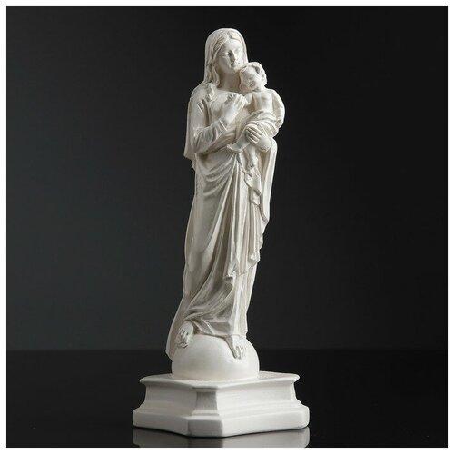 Фигура Дева Мария с младенцем белая 24см 1079149 фигура дева мария бронза золото 24см 1079148