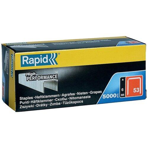 RAPID 6 мм тонкие скобы, супертвердые, профессиональные тип 53 (A / 10 / JT21), 5000 шт
