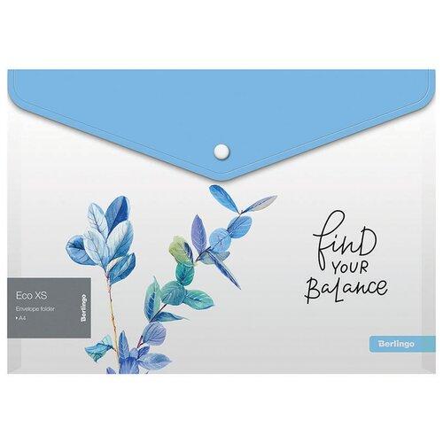 Купить Berlingo Папка-конверт на кнопке А4 Eco XS, пластик, 180 мкм, 12 штук, Файлы и папки