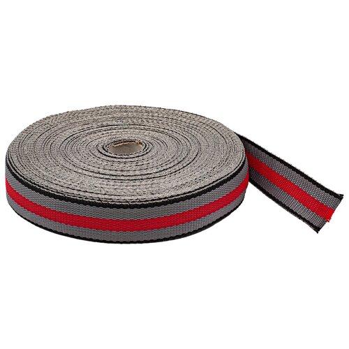 Купить С3824Г17 Стропа-30-5п рис.9492 30мм*25м (8 черный/серый/красный), 25 м, Красная лента, Технические ленты и тесьма