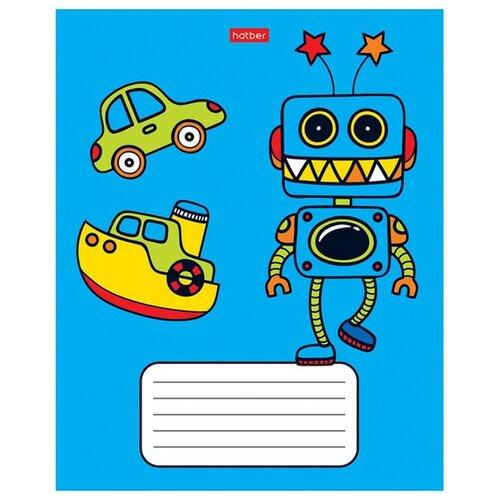 Тетрадь школьная 12л, А5 Hatber Я-робот (клетка, скрепка) 10шт. (12Т5В1) набор тетрадей hatber классика 12т5в1
